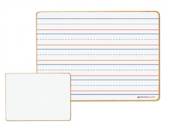 Magnetic Dry-Erase Board: Double-Sided Line Ruled/Blank