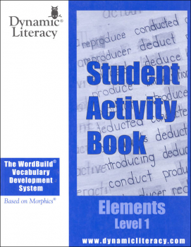 WordBuild Elements Level 1 Student Activity Book