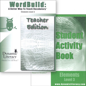 WordBuild Elements Level 3 Combo: Teacher & Student Activity Book