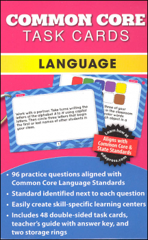 Common Core Language Task Cards Grade 1