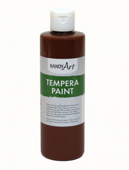 Brown Tempera Paint 8 oz.