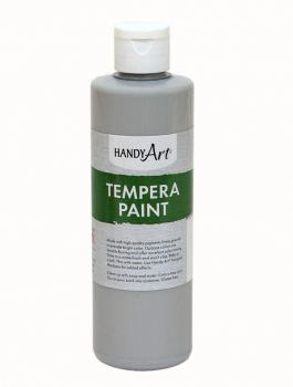 Gray Tempera Paint 8 oz.