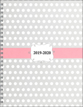 Academic Monthly/Weekly Planner Dots Design Hardcover August 2020 - July 2021