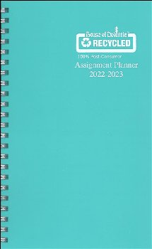 Student Assignment Planner Teal Vinyl August 2020 - August 2021