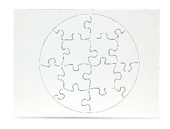 "Compoz-A-Puzzle - Circle Shape (6"" x 8"") 12 Pieces - 10 per pack"