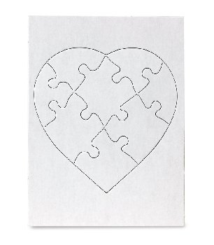 "Compoz-A-Puzzle - Heart Shape (6"" x 8"") 8 Pieces - 10 per pack"