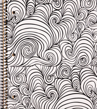 Creation Series 3-Section Notebook: Wavy Ink Doodle