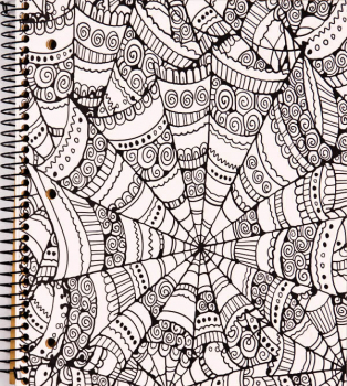 Creation Series 5-Section Notebook: Kaleidoscope Ink Doodle