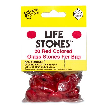 Life Stones 20 Red Colored Glass Stones
