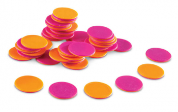 Two-Color Counters Set of 200 (Brights!)