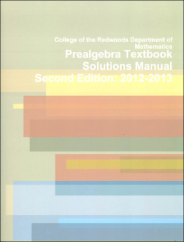 Pre-Algebra Textbook Solutions Manual