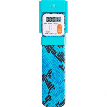 Mark-My-Time Digital Booklight Blue Snake Skin