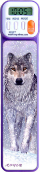 Mark-My-Time Digital Bookmark 3D Wolf