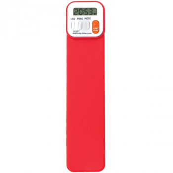Mark-My-Time Digital Bookmark Bright Red