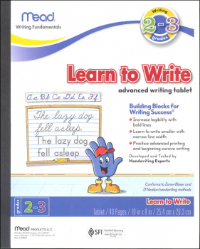 Learn to Write Advanced Writing Tablet Grades 2-3