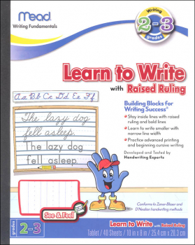 Learn to Write with Raised Ruling Grades 2-3
