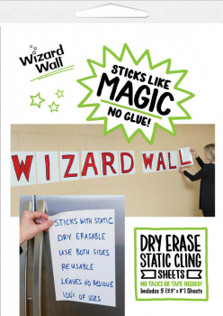 "Wizard Wall Pre Cut Sheets - White Film (5 1/2"" x 8"") package of 5"