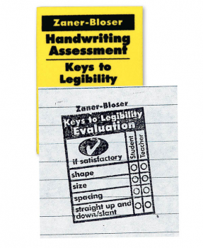 Zaner-Bloser Handwriting Keys to Legibility Foam/Rubber Stamp