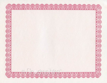 Conventional Burgandy Certificates (Package of 25)
