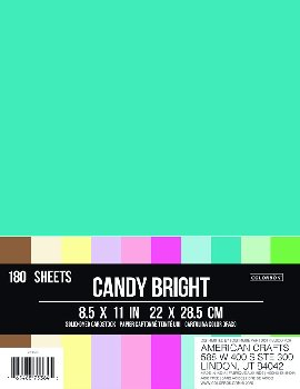 "Cardstock Paper Pack 8.5"" x 11"" - Candy Bright"