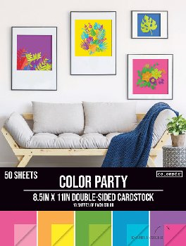 "Double-Sided Cardstock Paper Pad 8.5"" x 11"" - Color Party"