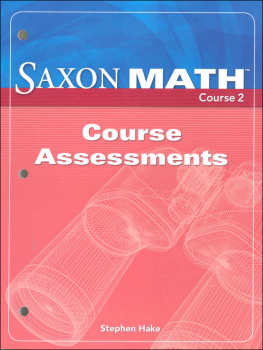Saxon Math Course 2 Assessments
