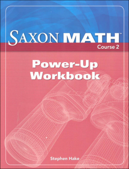 Saxon Math Course 2 Power-Up Workbook