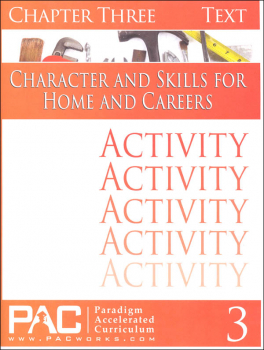 Character & Skills for Home & Careers Chapter 3 Activities