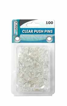 Push Pins - Clear (Set of 100)