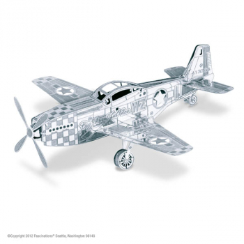 Mustang P-51 Aircraft (Metal Earth 3D Laser Cut Models)