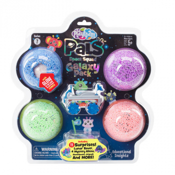 Playfoam Pals Space Squad Galaxy Pack  - Multipack A (Blue/Sparkle Purple/Sparkle Green/Sparkle Coral and Blue Rover)