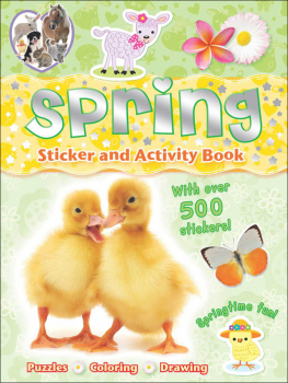 Spring Sticker and Activity Book