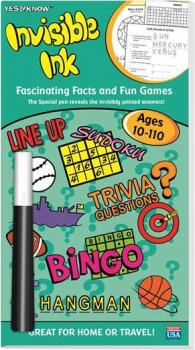 Yes & Know Invisible Ink Trivia & Game Book Ages 10-110