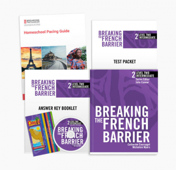 Breaking the French Barrier Level 2 (Intermediate) Homeschool Package