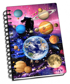 "Planets 3D Notebook 4"" x 6"""