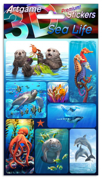 Sea Life 3D Stickers