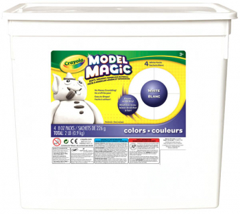 Crayola Model Magic 2lb Resealable Bucket - White