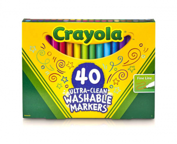 Crayola Ultra-Clean Washable Fine Line Markers 40 count