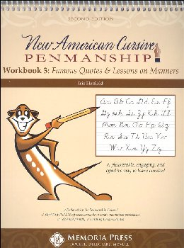 New American Cursive Penmanship Program 3 (Famous Quotes & Lessons on Manners)