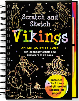 Vikings Scratch and Sketch Activity Book