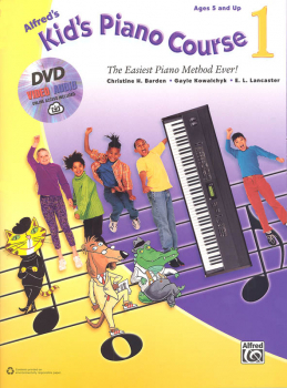 Alfred's Kid's Piano Course Book 1 with DVD & Online Access