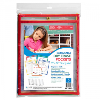 "Dry Erase Pockets - 9"" x 12"" Super Heavyweight (pack of 5)"