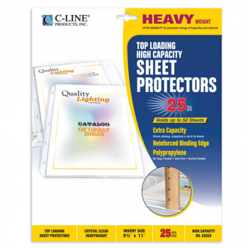 Sheet Protectors, High Capacity Polypropylene (box of 25)