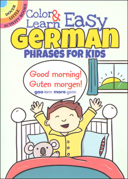 Color & Learn Easy German Phrases for Kids