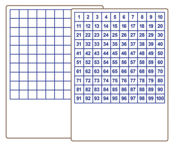 "Hundreds Grid Dry Erase Board - Two-Sided (9"" x 12"")"