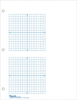 "Graph Paper, 2 Grid XY 1/4"" Squares (100 sheet pack)"