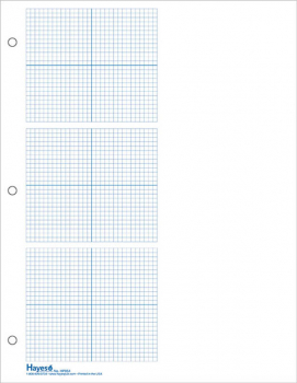 "Graph Paper, 3 Grid 1/8"" Squares (100 sheet pack)"