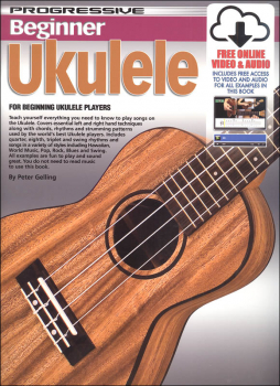 Progressive Beginner Ukulele With Online Video & Audio