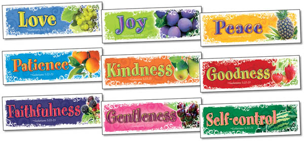 Fruit of the Spirit Bookmarks Assortment Pack (1 each of 9 designs)