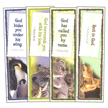 God Cares for His Children Bookmarks Assortment Pack (1 each of 4 designs)